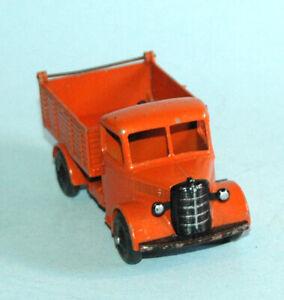 DINKY-Meccano-England-original-1948-BEDFORD-END-TIPPER-25m-Orange-Dump-Truck