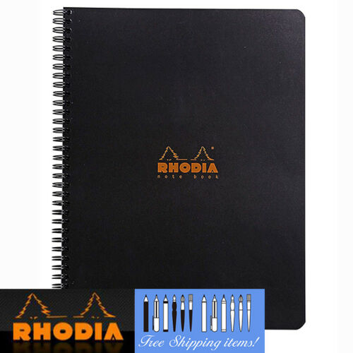 Rhodia Notebook GRID A4 Wirebound Black cover 80 sheets Paper Note pad