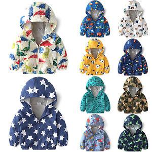 91be38308 Kids Girls Boys Cartoon Printed Jacket Coat Autumn Winter Outwear ...