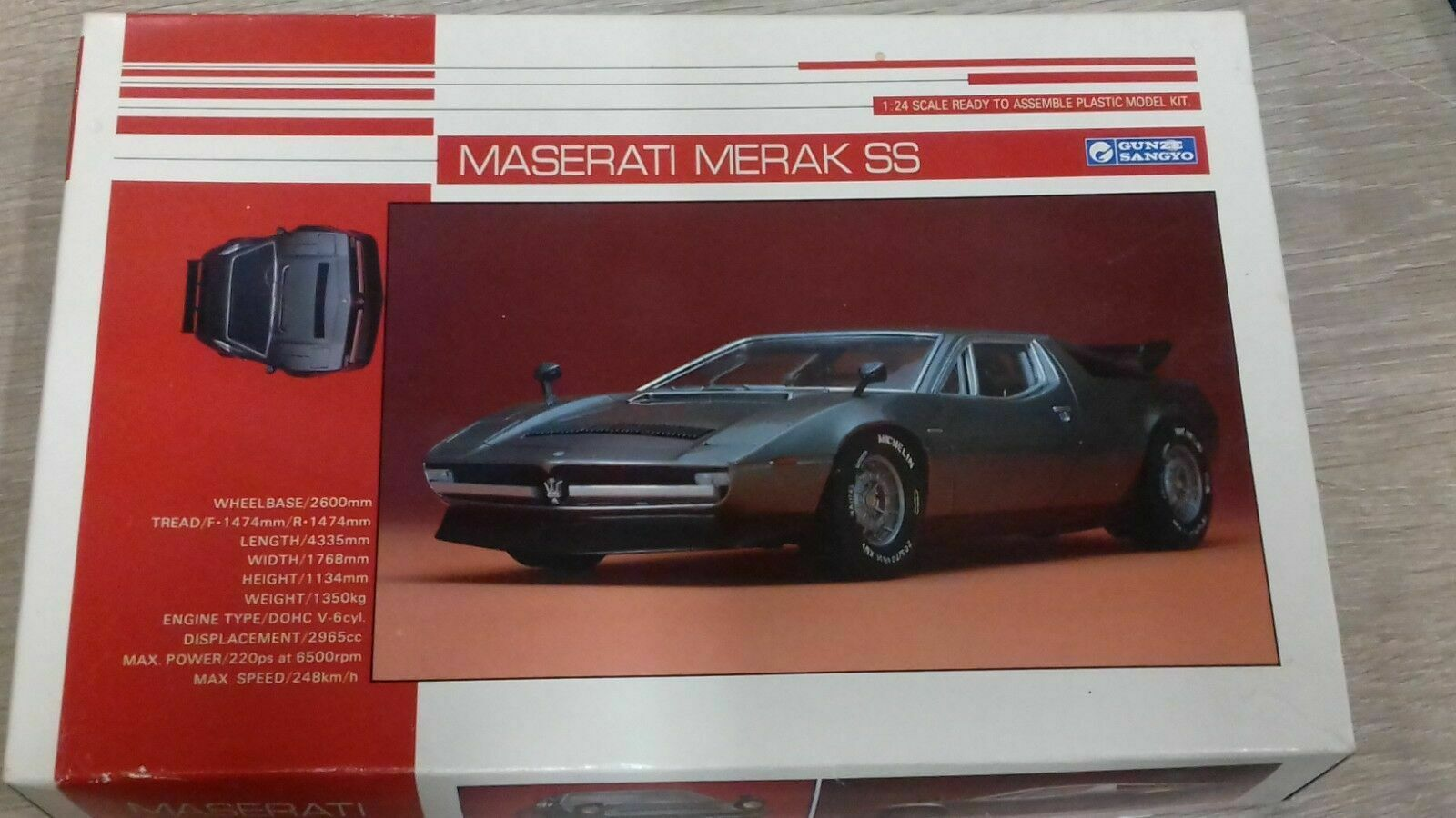 Gunze Sangyo MaseratiSS1 2Inside Plastic model