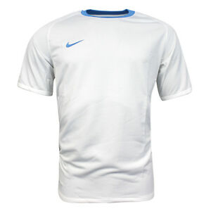 e5c43fba6278 Nike Football Short Sleeved Dri Fit Mens Fitness Top White 361116 ...