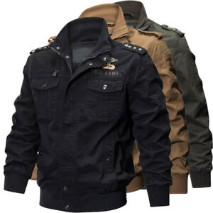 New-Spring-Fall-Men-039-s-army-Jacket-Military-Casual-Jackets-Coat-parka-Outwear
