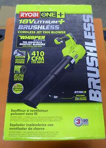 NEW RYOBI ONE+ 18-Volt Brushless Lithium-Ion Jet Fan Blower P21100