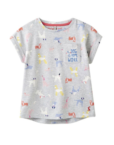 Tom Joule T-shirt con stampa all-over print CANE DOG GRIGIO 104 110 116 122 128 134 140