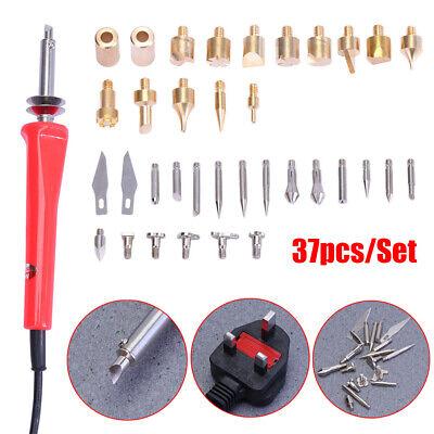 Wood Burning Pen Soldering Iron Engraver Tips Burner Number Letter Stencils Kit