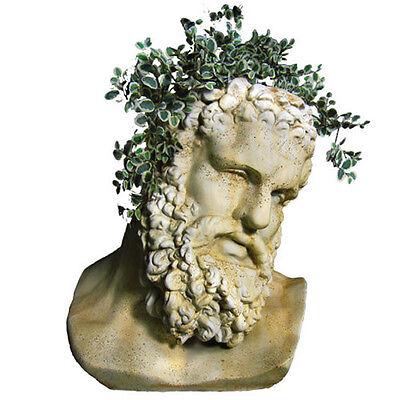Hercules Head Bust Garden Planter by Orlandi Statuary Made of Fiberstone-FS69396