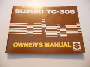 suzuki owners manual 1969 tc 305 tc305 ebay rh ebay com suzuki owners manuals free download suzuki owners manual download