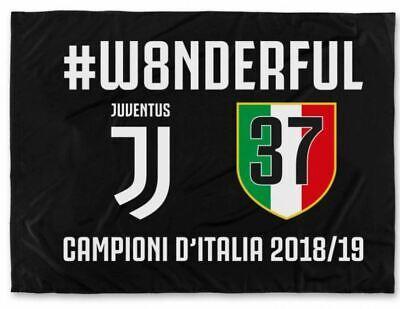 Schietto Bandiera Juventus #w8nderful Celebrativa Scudetto 2019 Juve Gigante Ufficiale 37 Vincere Elogi Calorosi Dai Clienti