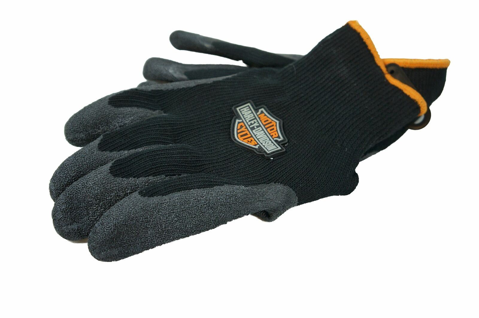 Harley-Davidson Hand Protection Rubber Dipped Knit Black Gloves Size Medium