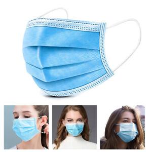 Mundschutz Maske einweg 3lagig Gesichtsmaske Mund-Nasen-Ate