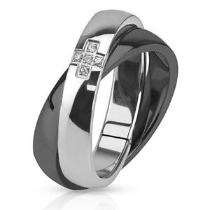 Cross-with-Paved-CZ-Combination-of-Black-IP-Band-Ring-Stainless-Steel-5-6-7-8-9