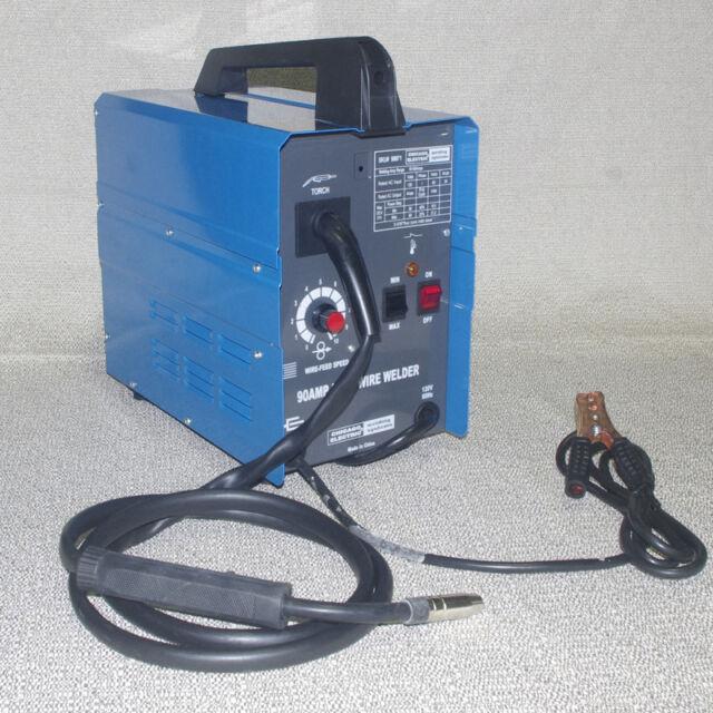 Chicago Electric MIG 100 Welding 110v 90 Amp Flux Wire Welder | eBay