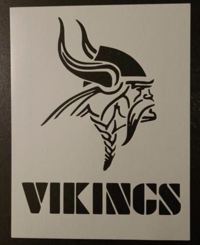 """Minnesota Vikings Football 8.5/"""" X 11/"""" Personalizado De Plantilla Rápido envío gratuito"""