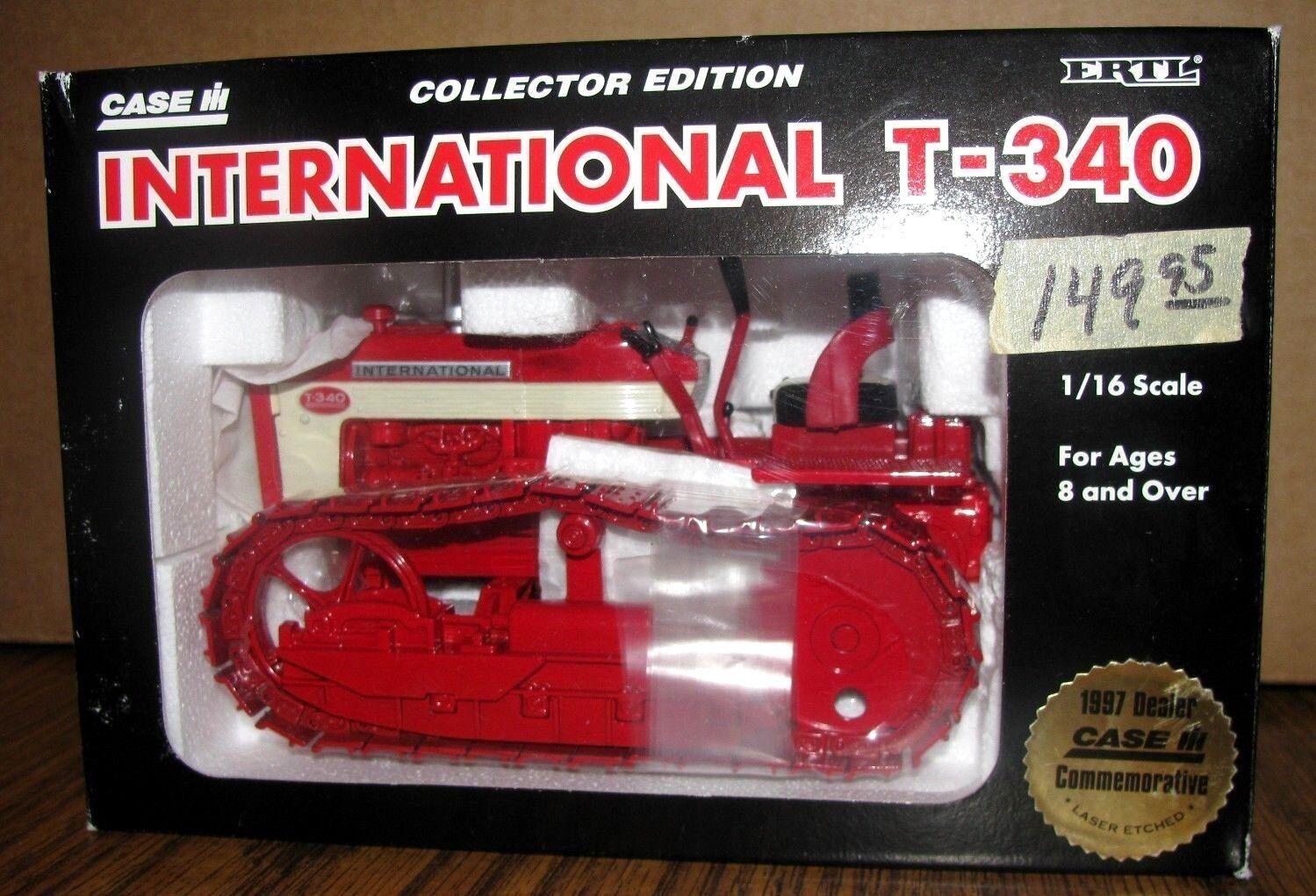 IH International T340 Crawler Tractor 1 16 Ertl Toy 1997 1997 1997 Case DEALER CollectorEd 39ba52