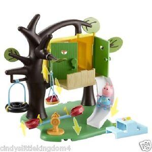Peppa Wutz Spiel Baum Haus Spielset Spielzeug & Figur,Baumhaus Swing und Rutsche