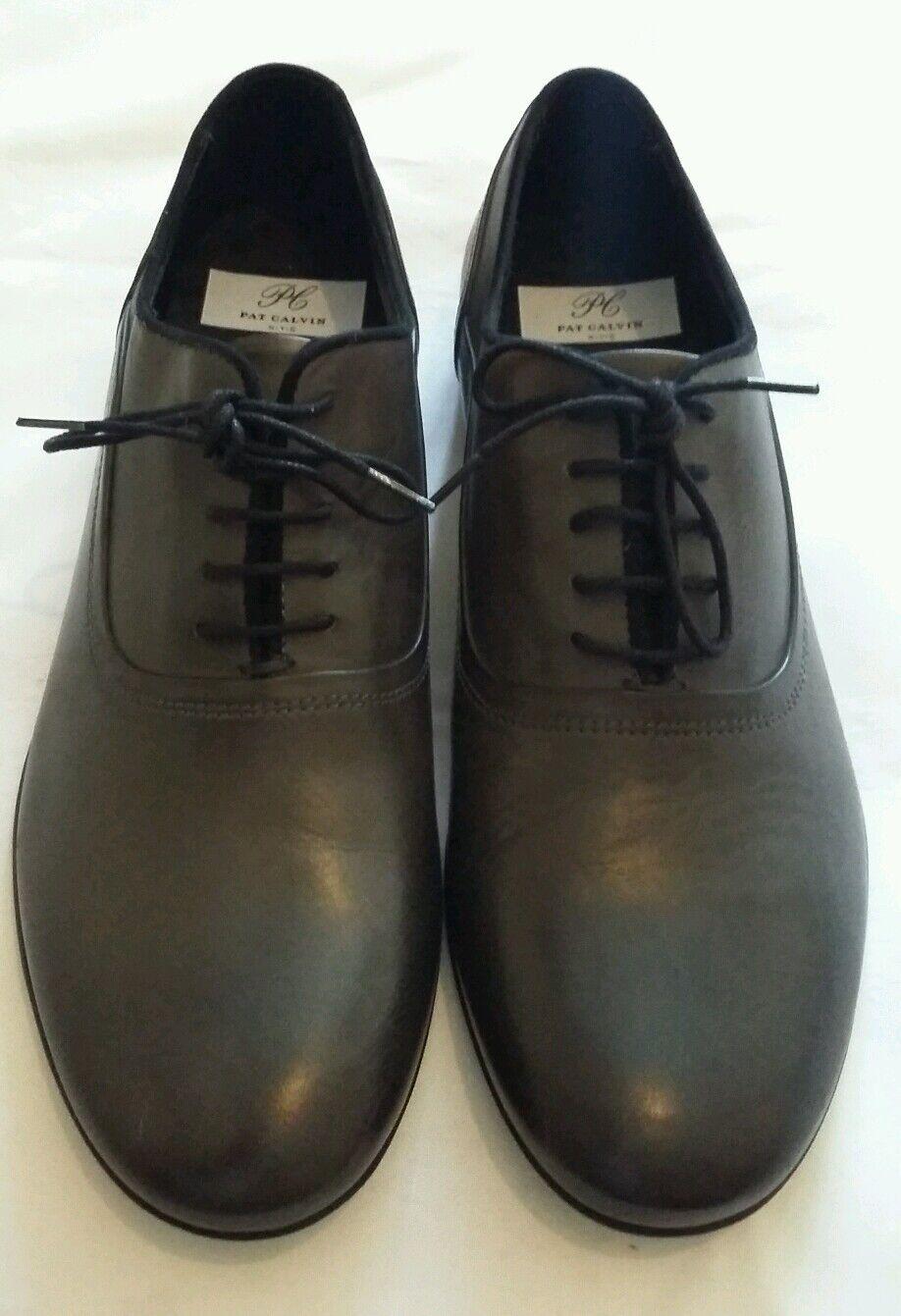 PAT CALVIN Up N.Y.C Dark Grey Lace Up CALVIN Shoe Size uk 7 eu 41 a9cb6a