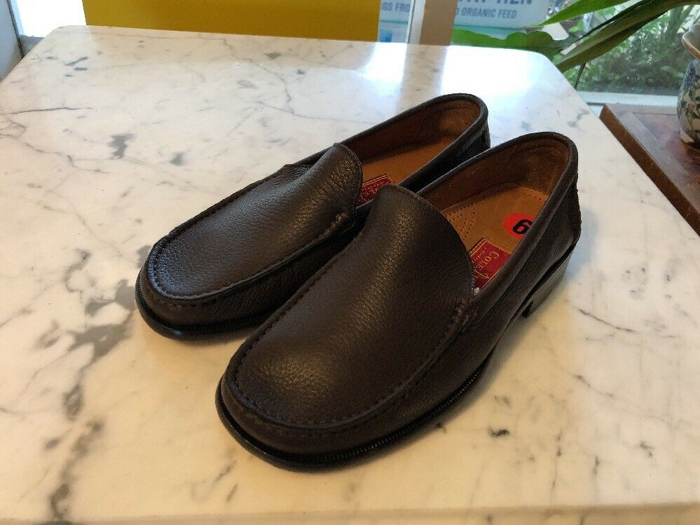 New Cole Haan Brown Italian Leather Loafers Size 6 US