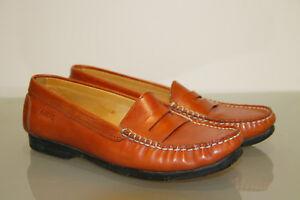 meilleure sélection d7840 9ba1b Détails sur jolies chaussures plates mocassins en cuir marron ARCUS  pointure 37 femme
