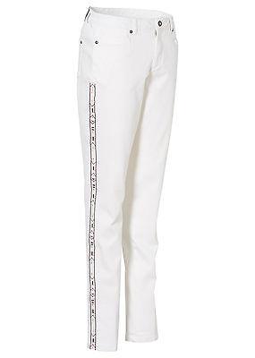 Bodyflirt Damen Jeans Hose Chino Stickerei Stretch weiss 964356 .