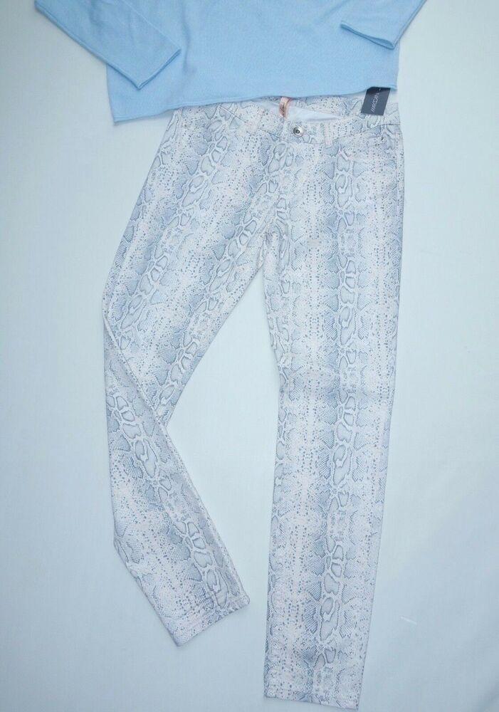 * Marccain Jeans Taille N2 (36) & N3 (38) Snake-print Crème Nouveau Marc Cain