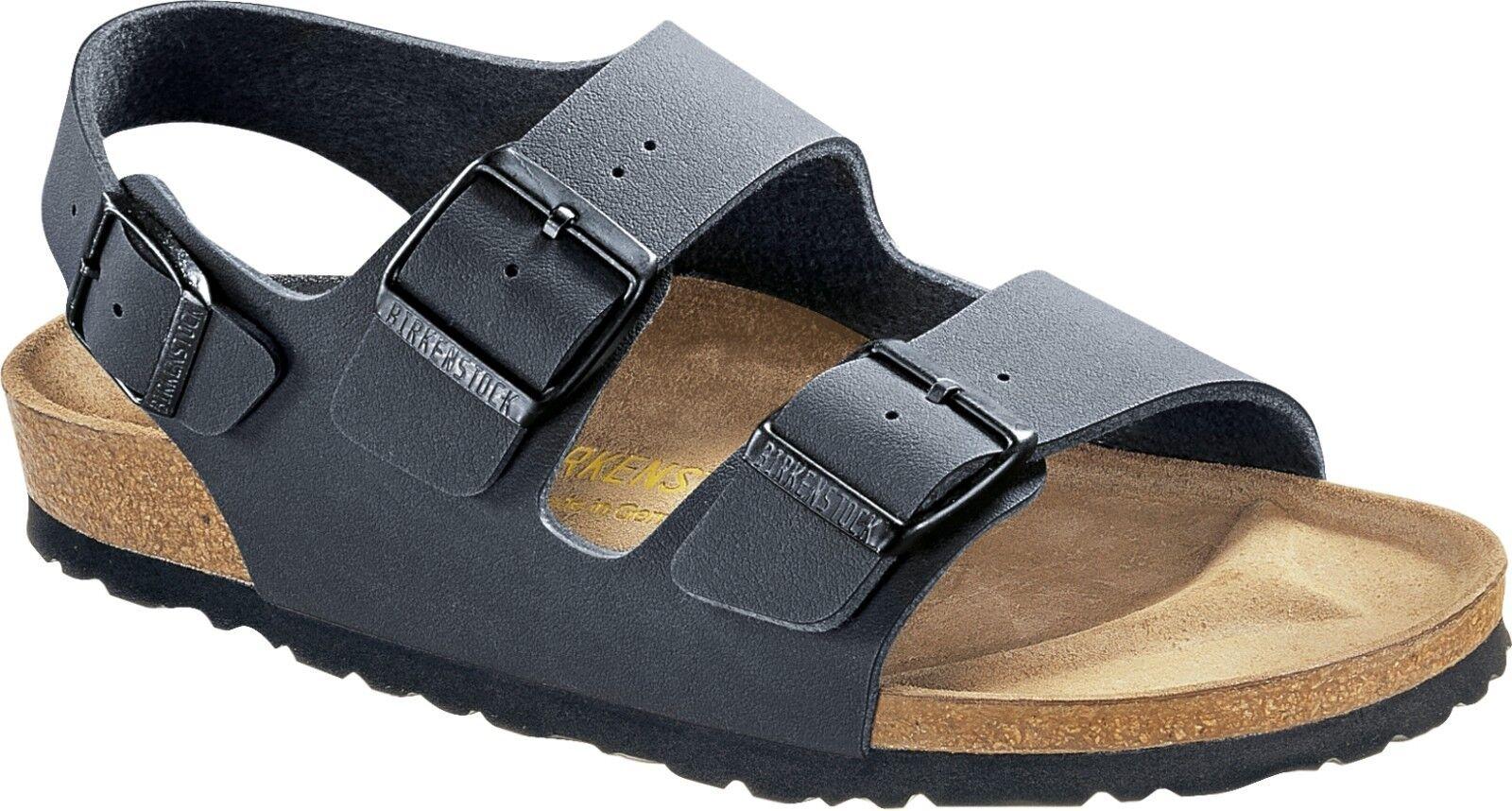 Sandali e scarpe per il mare da uomo Birkenstock MILANO basalto Birko-Flor MIS. 37-46 plantare sottile & normale