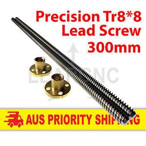 Lead-Screw-ACME-Leadscrew-Tr8x8-300mm-Brass-Nut-RepRap-Nema17-RAMPS-3D-Printer