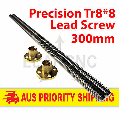 Lead Screw ACME Leadscrew Tr8x8 300mm Brass Nut RepRap Nema17 RAMPS 3D Printer