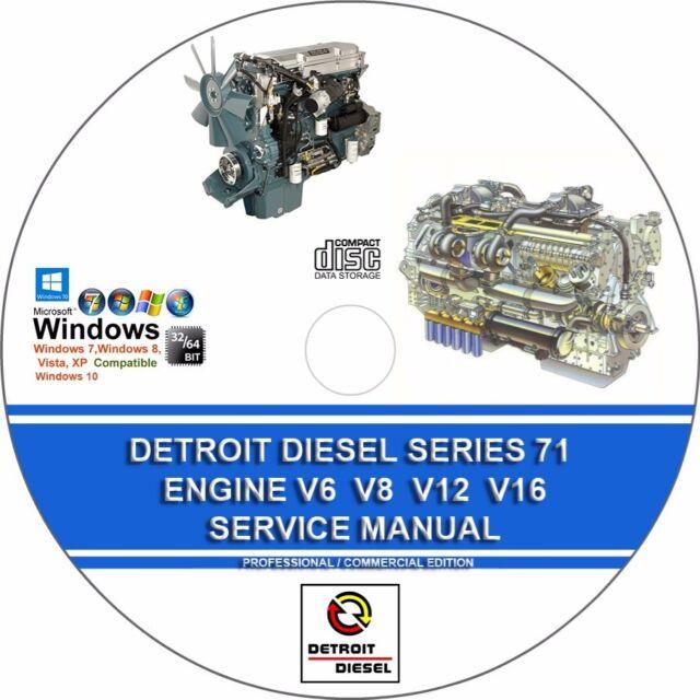 detroit diesel series 71 engines v6 v8 v12 v16 service repair rh ebay com Engine Rebuilding Estimate Engine Rebuilding Micro Soft Office