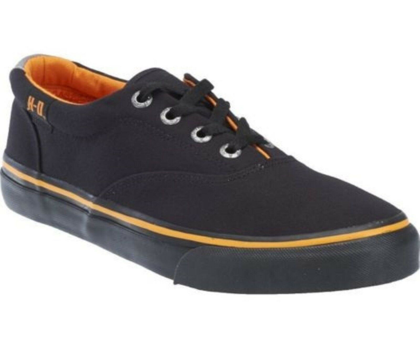 Harley Davidson Genuine Lawthorn Black  Mens Biker Trainers Relax Lace Up Shoes