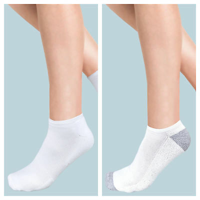 6 or 12 Pairs Mens Ladies Invisible Socks Trainer Liners Cotton Rich Footsies