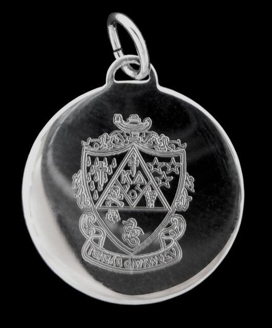 Kappa Delta Sorority, ΚΔ, Charm Pendant Εngraved Crest Sterling Silver