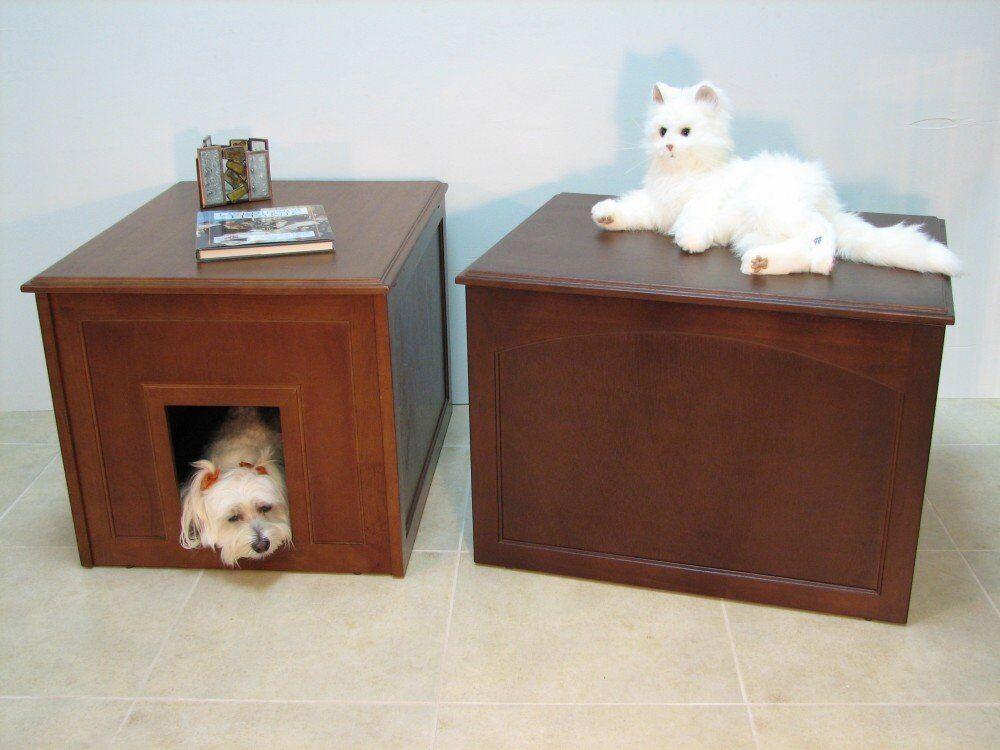 miglior reputazione Crown Pet Pet Pet Products Cat Litter Cabinet Dog Den in Espresso or Mahogany  Sconto del 70% a buon mercato