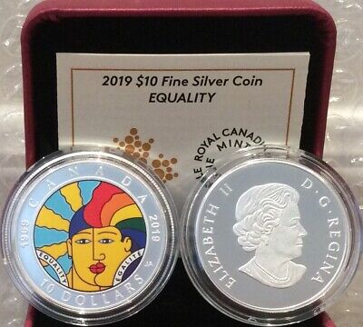 1969-2019 EQUALITY $10 1//2OZ Pure Silver Proof Coin Canada 50th Anniversary of