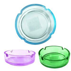 4-Stueck-Glasaschenbecher-Glas-Aschenbecher-10-5-cm-Rund-Stapelbar-mit-Farbwahl