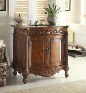 Luxury AntiqueStyle Vanity Cabinet Antique White  Victorian  Bathroom