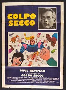 Werbeplakat Schlag Trocken Paul Newman Hockey Auf Eis George Roy Hill M324