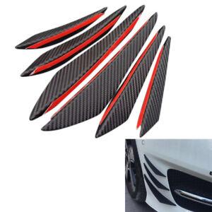 6Pcs-Carbon-Fiber-Style-Car-Front-Bumper-Lip-Splitter-Body-Spoiler-Canards-j-jf