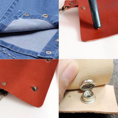 DE 200 Stück Druckknopf Popper Druckknopf Nähen Leder Bekleidung Knopf Kit H
