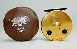 Vintage-FENWICK-World-Class-2-Fly-Fishing-Reel-w-Original-Case-EXCELLENT-GT-23