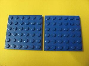 Lego 20 Bleu 6x6 Plaques 3958 Neuf Panneaux de Construction en Base