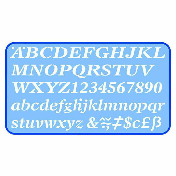 Helix 5mm Lettering Number Stencil Template