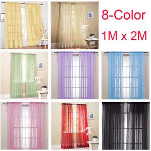 1M-2M-Home-Decor-Tulle-Voile-Window-Drape-Panel-Sheer-Scarf-Valances-Curtain