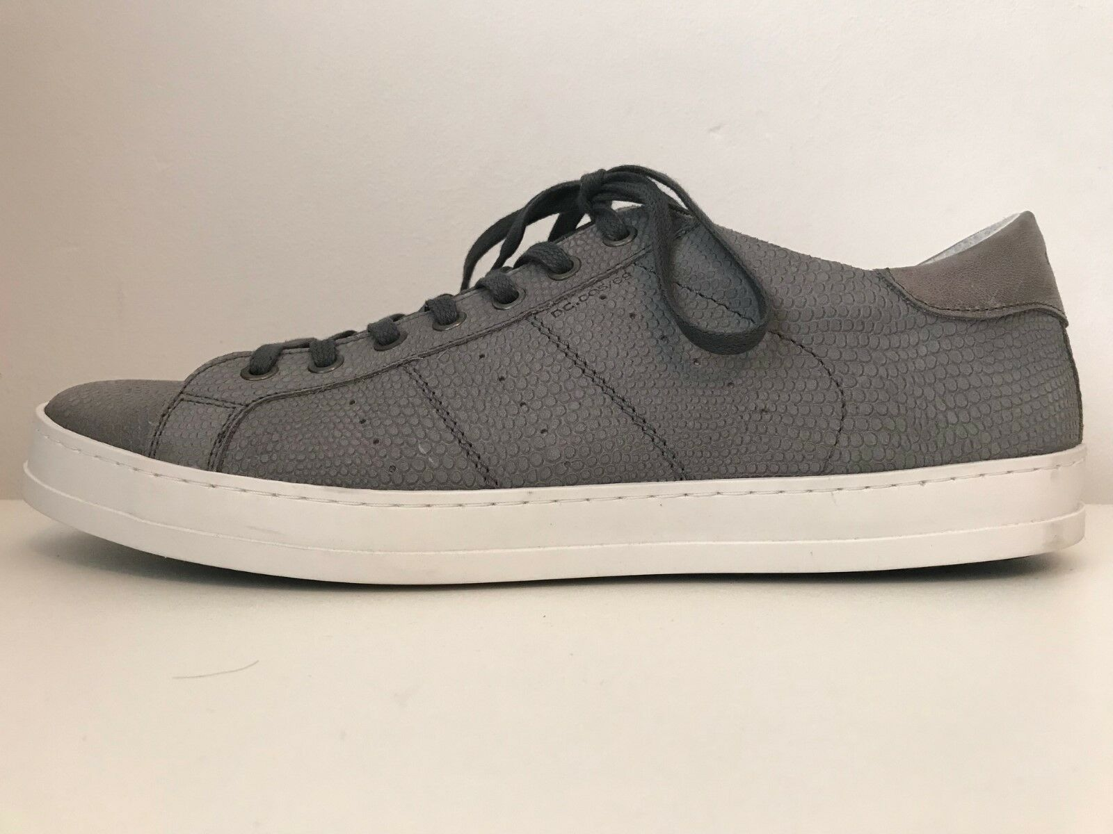 RAVALLE NEW Gris    95 LEATHER TRAINERS SNEAKERS 11 45 Blanc SIDE Chaussures