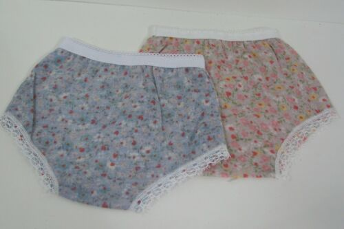 """Debs 2 Underwear Panties THIN Floral PRINT Doll Clothes For 18/"""" American Girl"""