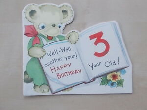 Image Is Loading VINTAGE 1950 039 S BIRTHDAY CARD WELL