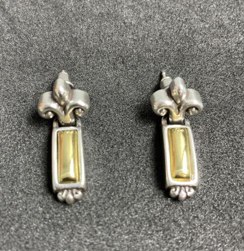 Brighton Two Tone Dangle Earrings