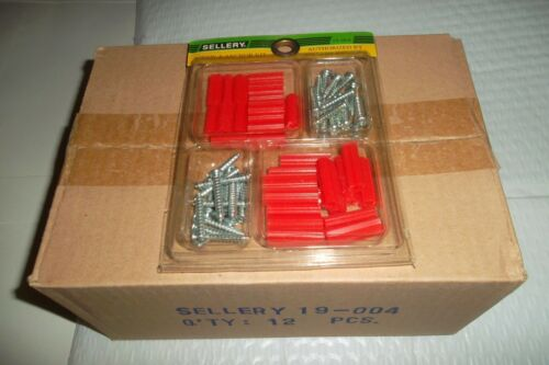 Bulk Screw and anchor sets 60 x pieces per set x 12 sets