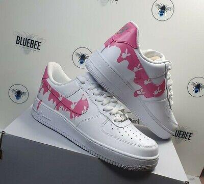 pink custom air force ones