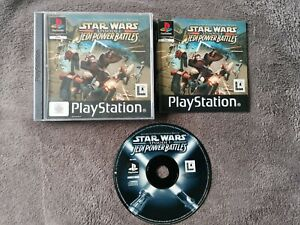 Jeu rare PS1 Star Wars Episode 1 Jedi Power Battles Complet FR TBE