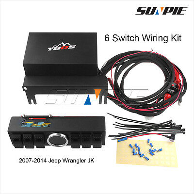 For 2007-2014 Jeep Wrangler JK 6 Switch Wiring Kit Switch Panel 6 Contura Switch